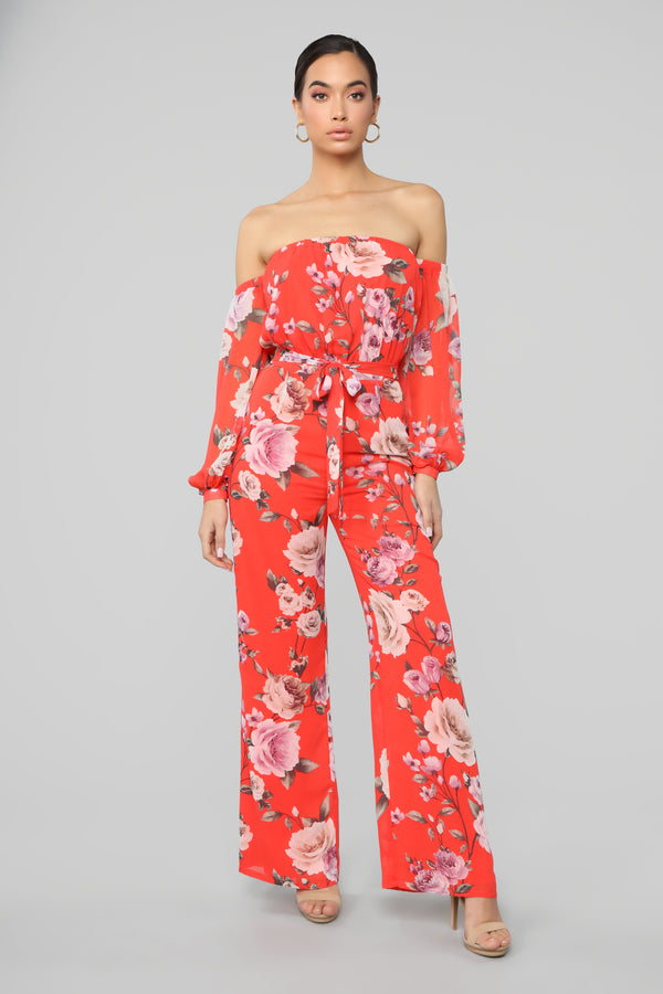 7c1fcdca9fa2 Your Everything Jumpsuit - Red Floral