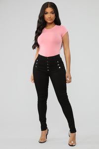 All Buttoned Up Jeans - Black