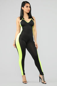 Workin' With It Jumpsuit - Black/Multi