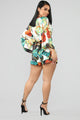 On The Island Tropical Romper - White/Combo