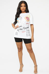 Queen Of The Squad Tunic Top - Off White Angle 2
