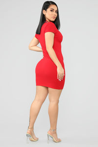 I'm Ready Polo Mini Dress - Red