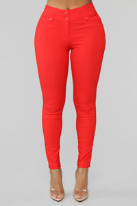 Workin Me Pants - Red