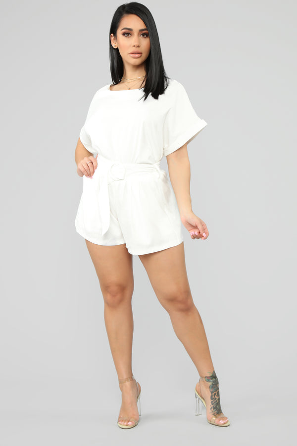 54da64ae97 Don t Be Rude Belted Short Set - Ivory