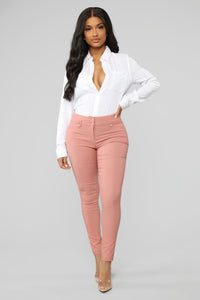 Workin Me Pants - Pink