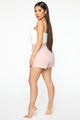 Boss Lady Striped Shorts - Pink/combo