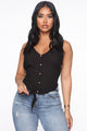 Hello Sunday Button Up Cami - Black