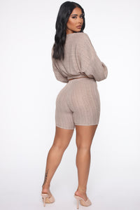 Best Of All Biker Short Set - Taupe Angle 3