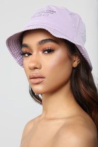 Handle With Care Bucket Hat - Lavender
