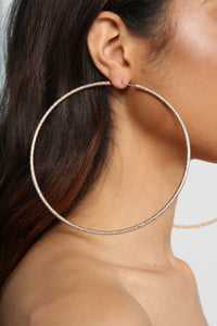 Glitter On Me Hoop Earrings - Gold Angle 2