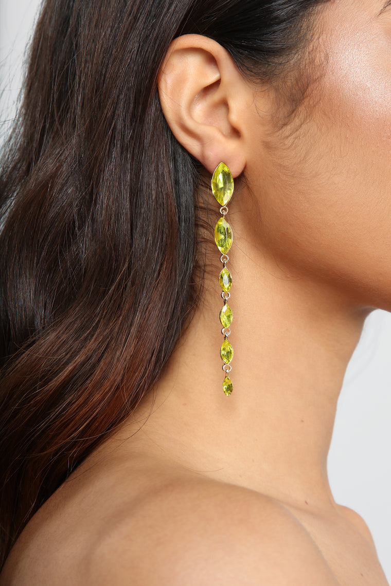 Gems And Stones Earrings - Yellow