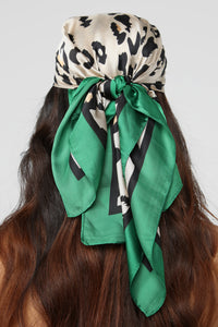Cheetahs Are Winners Head Scarf - Green