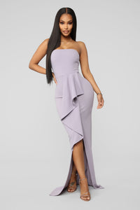 End The Night In Elegance Maxi Gown - Lavender