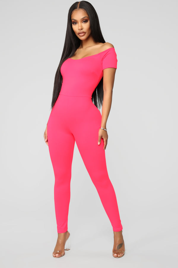 f5576aefc65 Love Your FN Body Jumpsuit - Neon Pink