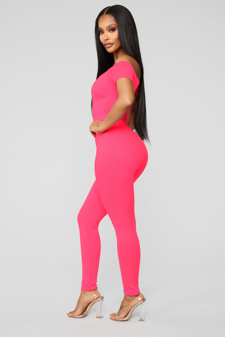 Love Your FN Body Jumpsuit - Neon Pink