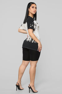 Rock Festival Tunic Top - Black Combo