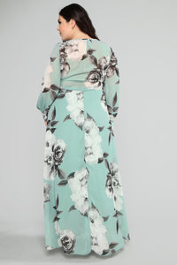 Hana Floral Dress - Mint/Multi Angle 8