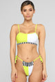 Split Decision 2 Piece Swimsuit - NeonYellow/Combo