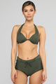 Waste No Time 2 Piece Swimsuit - Olive