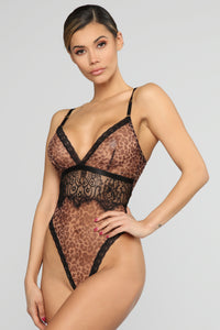 Show Your Wild Side Lace Teddy - Black
