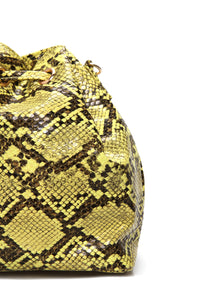 Snake In A Bag Crossbody - Yellow