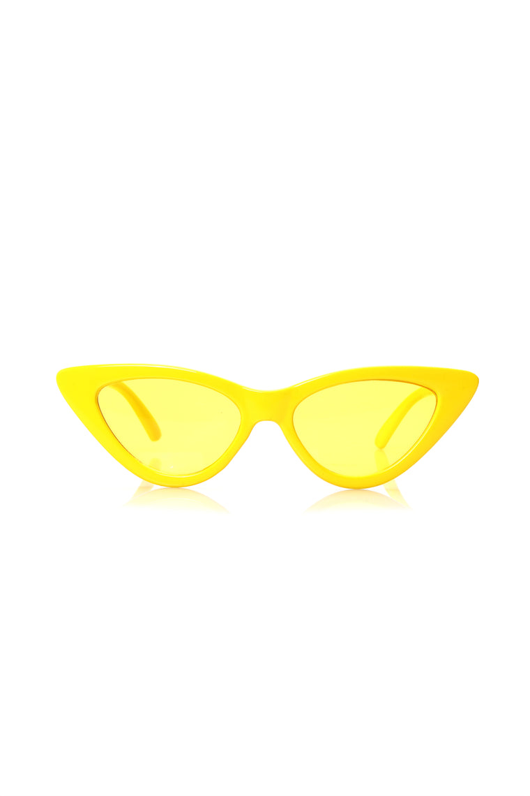 Please And Thank You Sunglasses - Yellow