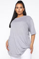 Knot My Concern Tunic - Heather Grey