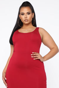 Your Needs Met Dress - Red Angle 6