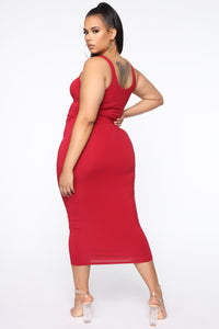 Your Needs Met Dress - Red Angle 7