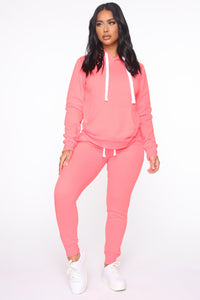 Relaxed Vibe Jogger II - Neon Pink Angle 2