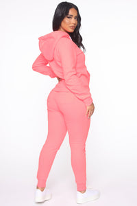 Relaxed Vibe Jogger II - Neon Pink Angle 4