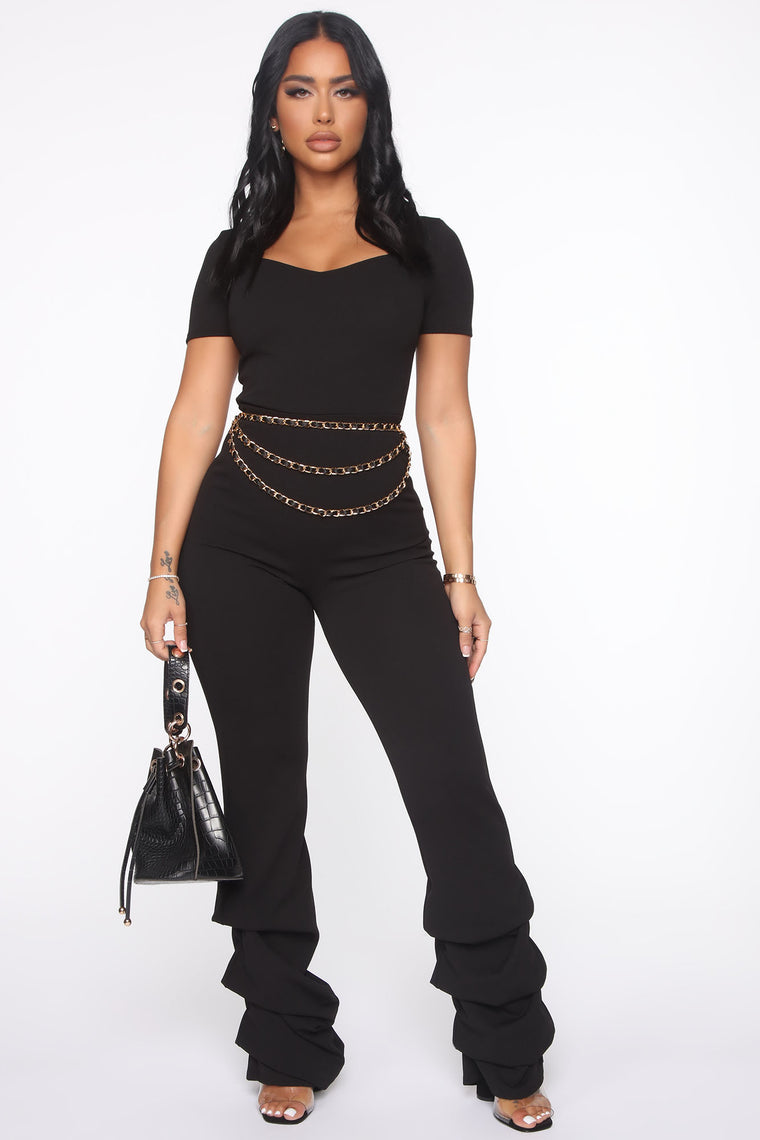 Casa Corazon Stacked Jumpsuit - Black