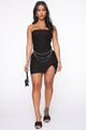 Chains And Whips Mini Dress - Black