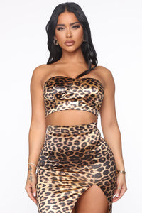 Danger Love Zone Leopard Skirt Set - Brown/combo Angle 3