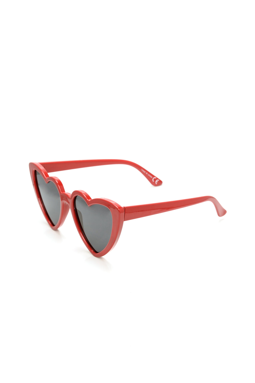 Got My Heart Eyes Sunglasses - Red