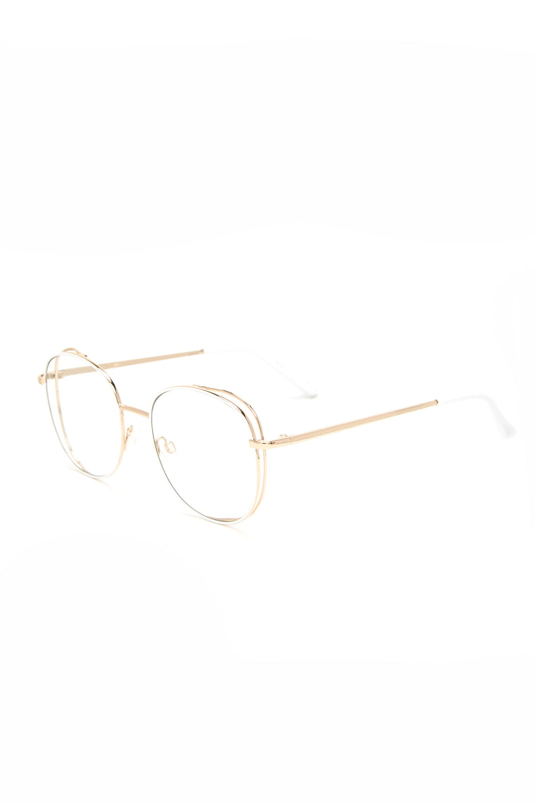 In The Clear Sunglasses - Gold/White