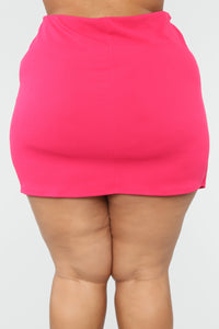 Almost Official Mini Skirt - Pink