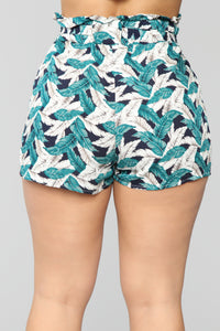 This Is Forever High Rise Printed Short - Green