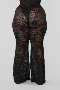 Love Love Lace Pant Set - Black