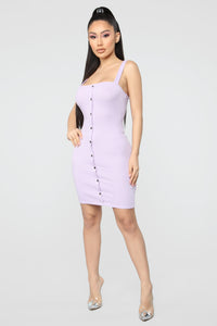 Only Puppy Love Rib Dress - Lavender