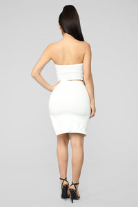 Cut It Up Cutie Skirt Set - Off White