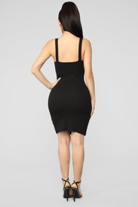 Only Puppy Love Rib Dress - Black