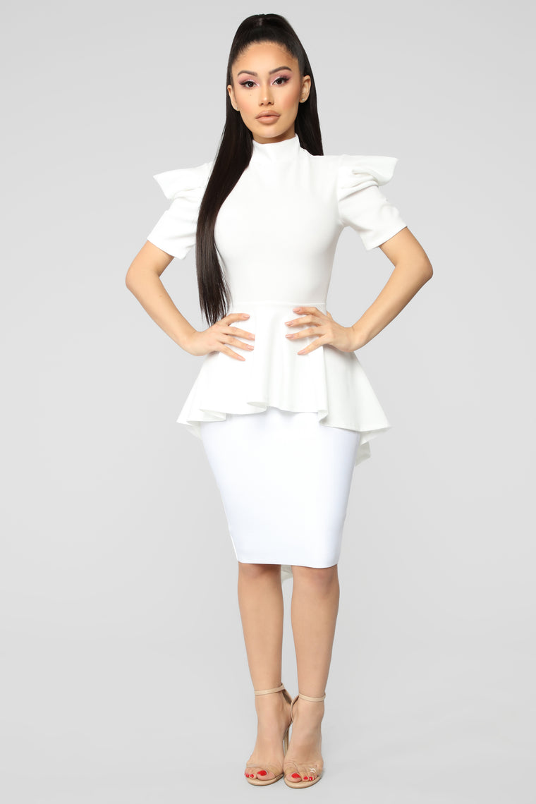 Boss Woman Top - Ivory