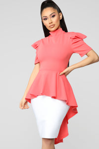 Boss Woman Top - Coral