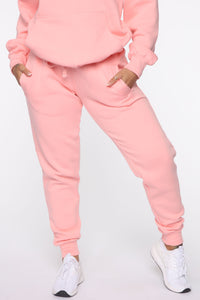 Stole Your Boyfriend's Oversized Jogger - Peach Angle 2