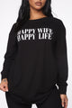 Happy Wife Happy Life Top - Black
