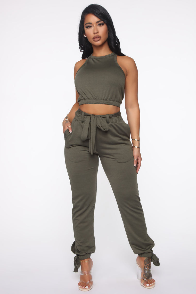Rest And Play Pant Set - Olive
