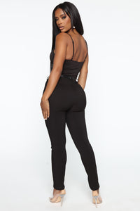 You Can Call Me Boss Lady Belted Pants - Black Angle 4