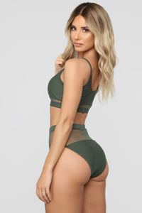 Sheer For The Weekend 2 Piece Swimsuit - Olive