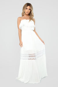 Out Of The City Tube Maxi Dress - White Angle 1